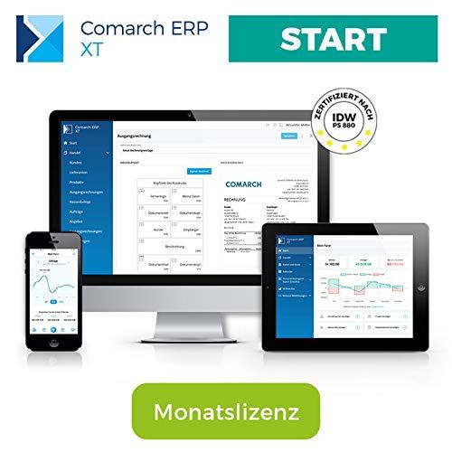 Comarch ERP XT - einfaches Rechnungsprogramm für Kleinunternehmer, Selbständige, Freelancer, Handwerker, Dienstleister - aus der Cloud - viele Funktionen - Paket START (Monatslizenz)