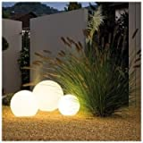 Kugelleuchte Kugellampe aussen garten Leuchtkugel Gartenlampe 30, 45, 60 cm Lichtkugel (Ø 30 cm)