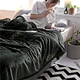 Wohn- & Kuscheldecken, Fleecedecke Kuscheldecke Anthrazit hochwertige Mikrofaser Flanell Decke für Sofa & Sessel super weiche warme Flauschige Wohndecke Reisedecke Schmusedecke
