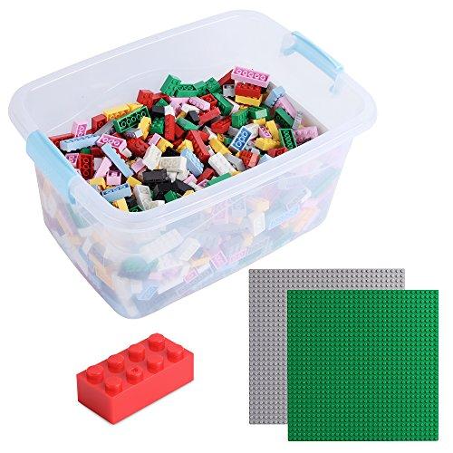 Katara 1827 - Bausteine 1264 Stück, Kompatibel mit Lego, Sluban, Papimax, Q-Bricks, Steine Inklusive Zwei Grundplatten, Bunt