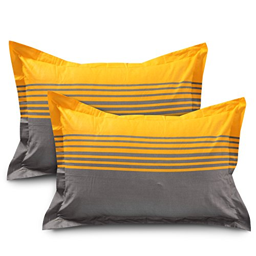 Ahmedabad-Cotton-144-TC-Cotton-Bedsheet-with-2-Pillow-Covers-Yellow-Grey