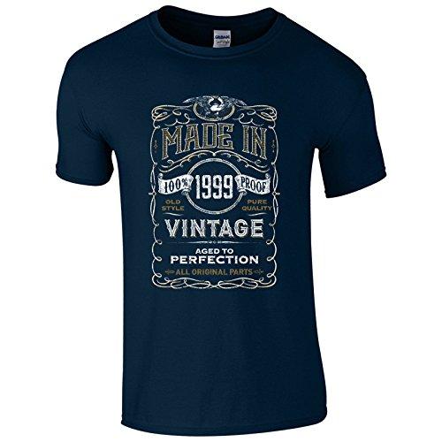 UKPrintwear Herren T-Shirt Marineblau