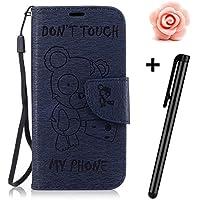 Samsung Galaxy S8 Hülle,Samsung Galaxy S8 flip Case,TOYYM Bär Muster Dont Touch My Phone Design Ultra Dünn PU... preisvergleich bei billige-tabletten.eu
