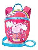 Peppa Pig Zainetto per Bambini Con Redini   Zaino Bambina Di Peppa Pig con Imbracatura di Sicurezza   Zainetto Per Bambini Con Paillettes Luccicanti