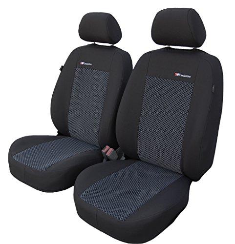 Vordersitzbezüge EXCLUSIVE ANR Universal Autositzbezüge Sitzbezüge Schonbezüge Grau