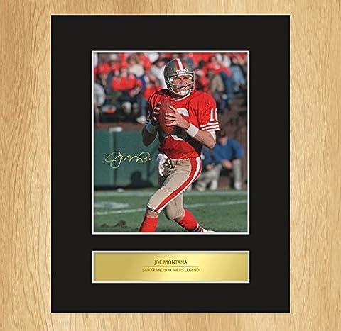 Joe Montana unterzeichnet montiert Foto Display San Francisco 49ers