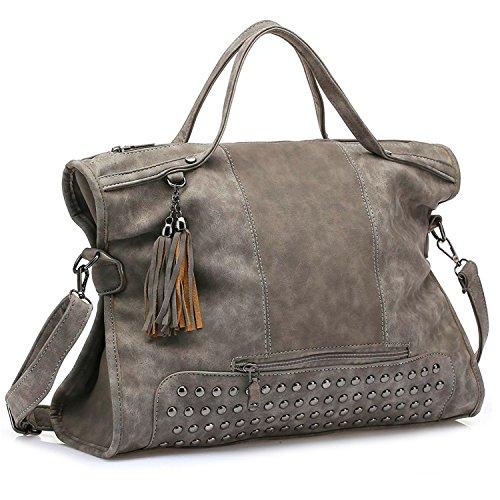 Borse della borsa della borsa della borsa della borsa della borsa della borsa della borsa della maniglia delle borse della Myleas Grigio Muchos Tipos De Precio Barato iUuL7ydO