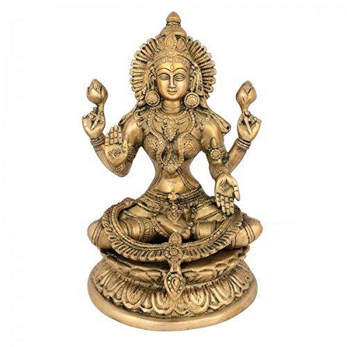 large-9-laxmi-statue-goddess-brass-lakshmi-hindu-idol-religious-metal-gift-home-decor-craftvatika-by