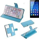 K-S-Trade Flipcover für Huawei Honor 3C Schutz Hülle Schutzhülle Flip Cover Handy case Smartphone Handyhülle blau
