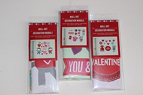 Valentine 's Day Art Wand Dekorationen 3er Pack