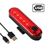 Uniavo Volcano USB Rechargeable Waterproof Bicycle LED Tail Light, Bike Safety Rear Warning