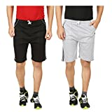 Guide Fashion Branded Cotton Men And Women Sports and Casual Shorts Pack Of 2