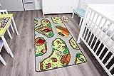 Kinderteppich mit Bauernhof zum Spielen, 95x200cm  Schadstoffgeprüft  Anti-Schmutz-Schicht  Bauernhof-Spielteppich, Bauernhof-Teppich für Jungen & Mädchen  Farmteppich für Fußbodenheizung geeignet  Getufteter Bauernhof-Teppich fürs Kinder-Zimmer