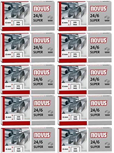 Novus Standardheftklammer für Büroheftgeräte (10, 24/6 Super)