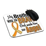 Eleganceelegant 23,5x 19,7cm Pad mouse leucemia arancione Best mouse pad