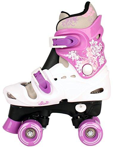 Kinder Rollschuhe Rollerskates verstellbar 28 29 30 31 32 33 34 35 36 NEU Disco Roller (Lila, 32-36 (M))