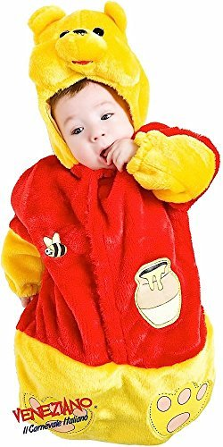 en Baby Jungen Mädchen Gelb Furry Bear Cartoon Sack Book Fancy Kleid Kostüm Outfit Schlafsack 0–3 Monate (Winnie The Pooh Baby-outfit)