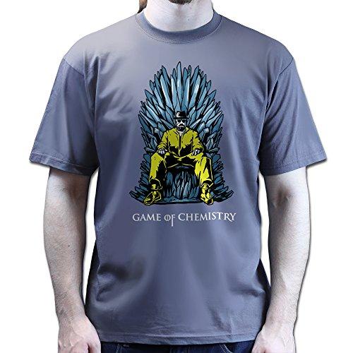 Heisenberg Game of Chemistry Thrones Walter Breaking Bad T-shirt Dunkelgrau