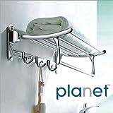 Planet Platinum High Grade Stainless Steel Folding Towel Rack (2 feet long) - Pack of (1)