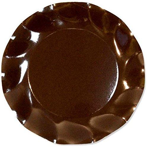 10 ASSIETTES PLATES 27CM - MARRON