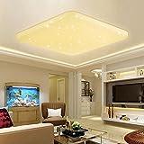VINGO® 60W LED Deckenleuchte Eckig Sternenhimmel Effekt Schlafzimmerleuchte warmweiß Kinderzimmer Badleuchte Schlafzimmer Decken starlight Lampe Mordern Flurlampe Leuchte angenehmes Licht 2700K-3000K