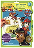 Vivid Imaginations My First Crayola Paw Patrol Colour and Shapes Sticker Activity Book (Multi-Colour)