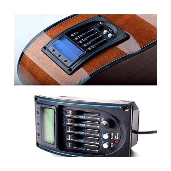 Gaddrt Guitar preamp Eqlc 5-band EQ equalizzatore chitarra elettrica acustica preamplificatore sintonizzatore