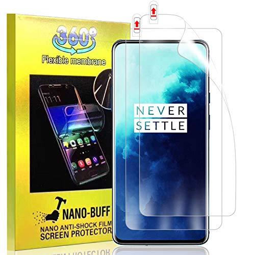 MSOVA Souple TPU Verre Trempé pour Oneplus 7T Pro/Oneplus 7 Pro, [Anti-Rayure][sans Bulle] Protection écran en TPU Souple Protection pour Oneplus 7T Pro/Oneplus 7 Pro (Pack de 2)