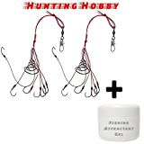 #3: Hunting Hobby Steel Carp Fishing Hooks Power Bait (2pcs Crap Fishing) - Pack of 2 Pieces