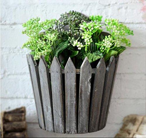 QSS/ Amerikanische rustikal/Vintage Holz / / hängend Blume Korb/Shop kreative Haus/Wohnzimmer Wand Pflanzer/Flower Box Zubehör , 4 (Wand-korb Pflanzer)