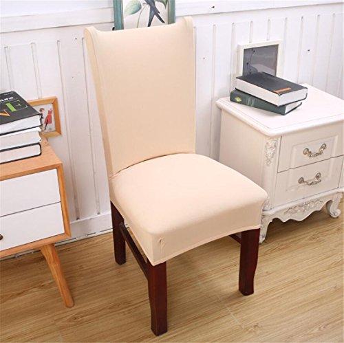 duoguan 2pcs Stretch elástico extraíble lavable corto funda para silla de comedor...