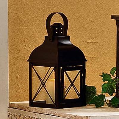 DRAGIMEX 24021 Laterne 11,5x11,5x22cm Metall schwarz von DRAGIMEX bei Lampenhans.de