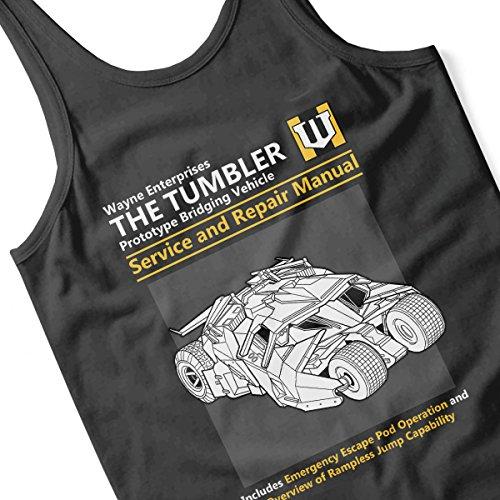Batman The Tumbler Service And Repair Manual Men's Vest Black