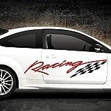 Wandaro X9038 2er Set 2-Farbiger Auto Seitenaufkleber Racingstyle Hellblau
