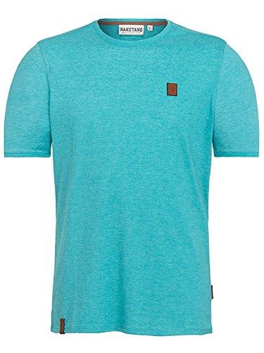 Naketano Male T-Shirt Italienischer Hengst V fresh blue melange