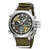 Reloj deportivo militar de lujo con correa de lona digital para hombre Relogio masculino Relojes Hombre
