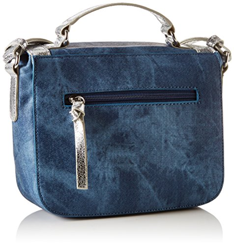 Tamaris - Vera Satchel Bag, Borsa a spalla Donna Blau (denim Comb)