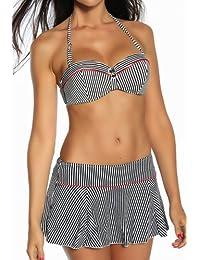 jowiha Push Up Bikini Set mit Mini Rock XS S M oder L