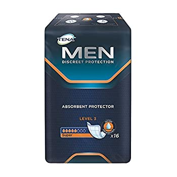 Tena 750830 Men Level 3 Incontinence Pad (Pack Of 16) 0