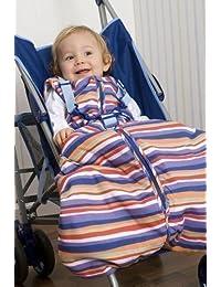 Sac de couchage pour bébé Slumbersac voyage 2,5 tog rayures multicolores 0-6 mois