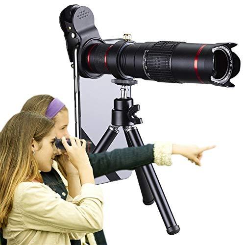 Daqin HD-Handy-Teleskop 4K 22-Fach Zoom-Teleobjektiv Externe Smartphone-Kameraobjektive Für Smartphone (Color : Black)
