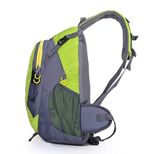 LQABW Schulter-Bergsteigen Berufssport 35L Outdoor-Freizeit Reisen Wandern Wasserdichte Tasche Rucksack Green