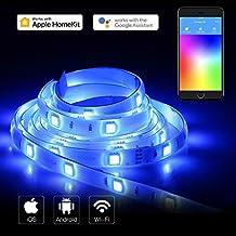 Koogeek Tira de luz WiFi led WiFi Inteligente 2m Luz Regulable 1600 Colores Compatible con Amazon