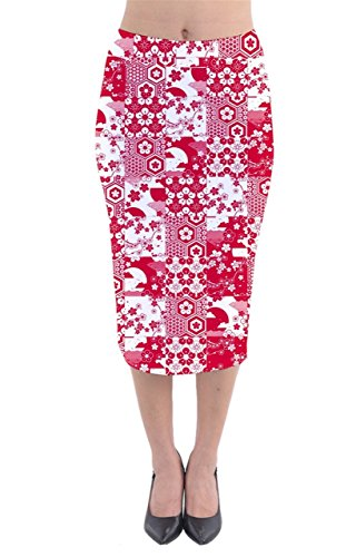 CowCow - Jupe - Femme multicolore rouge/blanc rouge/blanc