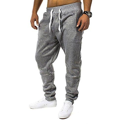 Pantaloni della tuta Uomo Fit & Casa ID1128 (vari colori), Farben:Dunkelgrau;Größe-Hosen:2XL