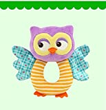 #6: Baby Station Baby Toys O-Type Bells Early Education Puzzle Plush Toys Baby Hand Bell (Owl)