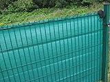 Koll Living Sichtschutz für Stabmattenzäune, grün, 100x500cm - aus reissfestem HDPE - passend für EIN- & Doppelstabmattenzaun - Perfekter Wind- & Sonnenschutz