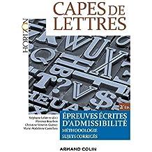 CAPES de Lettres : Épreuves écrites d'admissibilité (Horizon)