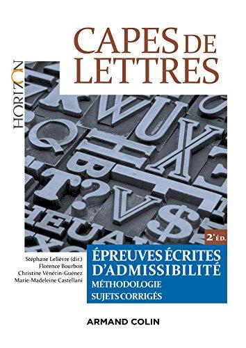 CAPES de Lettres - Épreuves écrites d'admissibilité