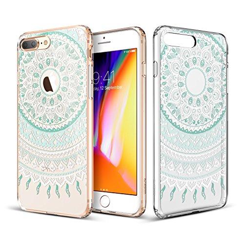 ESR iPhone X Hülle [Kabelloses Aufladen Unterstützung], Weiche TPU Rahmen, Hartem PC Rückdeckel [Paisley Muster] SchutzHülle [Kabelloses Aufladen Unterstützung] für Apple iPhone X / iPhone 10 5.8 Zoll Mandala